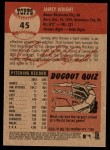 2002 Topps Heritage #45  Jamey Wright  Back Thumbnail