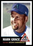 2002 Topps Heritage #136  Mark Grace  Front Thumbnail