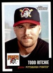 2002 Topps Heritage #132  Todd Ritchie  Front Thumbnail