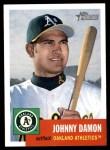 2002 Topps Heritage #92  Johnny Damon  Front Thumbnail