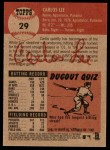2002 Topps Heritage #29  Carlos Lee  Back Thumbnail