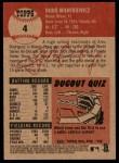 2002 Topps Heritage #4  Doug Mientkiewicz  Back Thumbnail