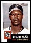 2002 Topps Heritage #100  Preston Wilson  Front Thumbnail