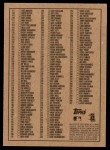 2002 Topps Heritage #0   Checklist 1 of 2 Back Thumbnail