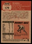 2002 Topps Heritage #179  Pat Burrell  Back Thumbnail