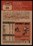 2002 Topps Heritage #43  Scott Brosius  Back Thumbnail
