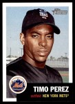 2002 Topps Heritage #193  Timo Perez  Front Thumbnail