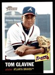 2002 Topps Heritage #17  Tom Glavine  Front Thumbnail