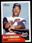 2002 Topps Heritage #131  Garret Anderson  Front Thumbnail