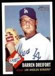 2002 Topps Heritage #157  Darren Dreifort  Front Thumbnail