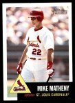 2002 Topps Heritage #72  Mike Matheny  Front Thumbnail