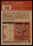 2002 Topps Heritage #138  Nick Neugebauer  Back Thumbnail