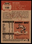 2002 Topps Heritage #150  Bret Boone  Back Thumbnail