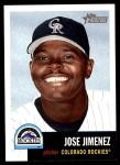 2002 Topps Heritage #123  Jose Jimenez  Front Thumbnail