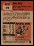 2002 Topps Heritage #19  Larry Walker  Back Thumbnail