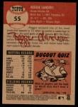 2002 Topps Heritage #55  Reggie Sanders  Back Thumbnail