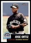 2002 Topps Heritage #163  Jose Ortiz  Front Thumbnail