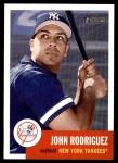2002 Topps Heritage #107  John Rodriguez  Front Thumbnail
