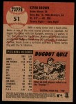 2002 Topps Heritage #51  Kevin Brown  Back Thumbnail