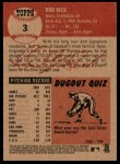 2002 Topps Heritage #3  Rod Beck  Back Thumbnail
