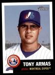 2002 Topps Heritage #313  Tony Armas Jr.  Front Thumbnail