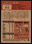 2002 Topps Heritage #212  Jose Cruz Jr.  Back Thumbnail