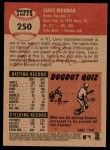 2002 Topps Heritage #250  Lance Berkman  Back Thumbnail