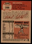 2002 Topps Heritage #288  Mike Lieberthal  Back Thumbnail
