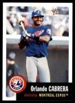 2002 Topps Heritage #231  Orlando Cabrera  Front Thumbnail