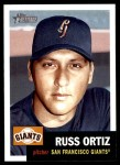 2002 Topps Heritage #323  Russ Ortiz  Front Thumbnail