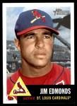 2002 Topps Heritage #203  Jim Edmonds  Front Thumbnail