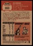 2002 Topps Heritage #203  Jim Edmonds  Back Thumbnail