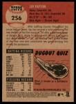 2002 Topps Heritage #256  Jay Payton  Back Thumbnail