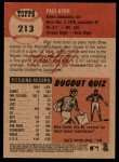 2002 Topps Heritage #213  Paul Byrd  Back Thumbnail