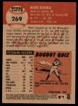 2002 Topps Heritage #269  Mark Buehrle  Back Thumbnail