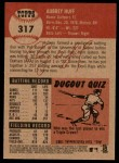 2002 Topps Heritage #317  Aubrey Huff  Back Thumbnail