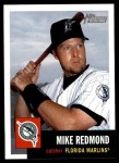 2002 Topps Heritage #321  Mike Redmond  Front Thumbnail