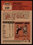 2002 Topps Heritage #239  Hank Blalock  Back Thumbnail