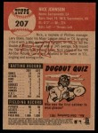 2002 Topps Heritage #207  Nick Johnson  Back Thumbnail