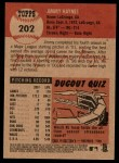 2002 Topps Heritage #202  Jimmy Haynes  Back Thumbnail