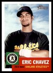 2002 Topps Heritage #296  Eric Chavez  Front Thumbnail