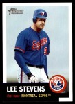 2002 Topps Heritage #238  Lee Stevens  Front Thumbnail