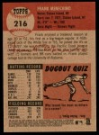 2002 Topps Heritage #216  Frank Menechino  Back Thumbnail