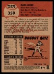 2002 Topps Heritage #359  Mark Quinn  Back Thumbnail