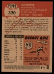 2002 Topps Heritage #320  Jace Brewer  Back Thumbnail
