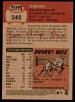 2002 Topps Heritage #245  Jason Bere  Back Thumbnail