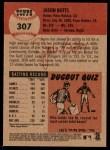 2002 Topps Heritage #307  Jason Botts  Back Thumbnail