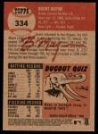 2002 Topps Heritage #334  Brent Mayne  Back Thumbnail