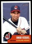 2002 Topps Heritage #251  Omar Vizquel  Front Thumbnail