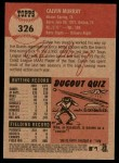 2002 Topps Heritage #326  Calvin Murray  Back Thumbnail